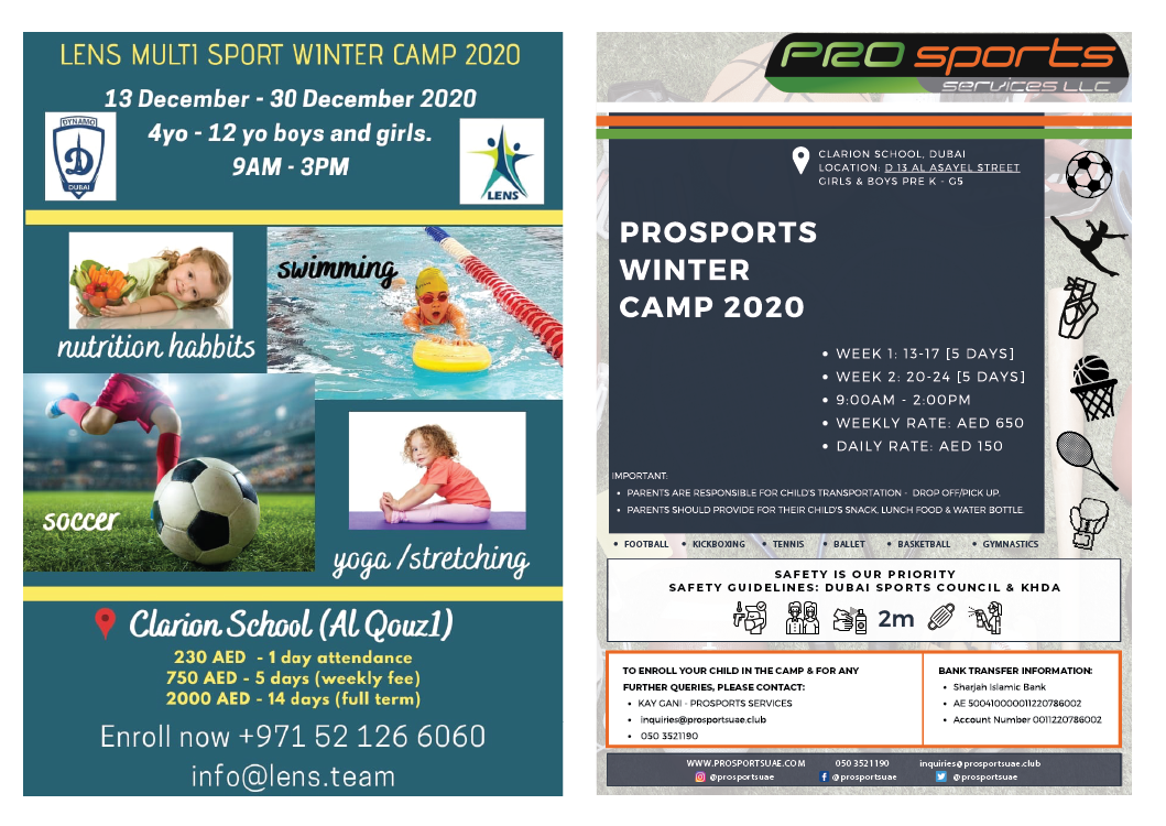 Winter Camps Starting December 13 – 30